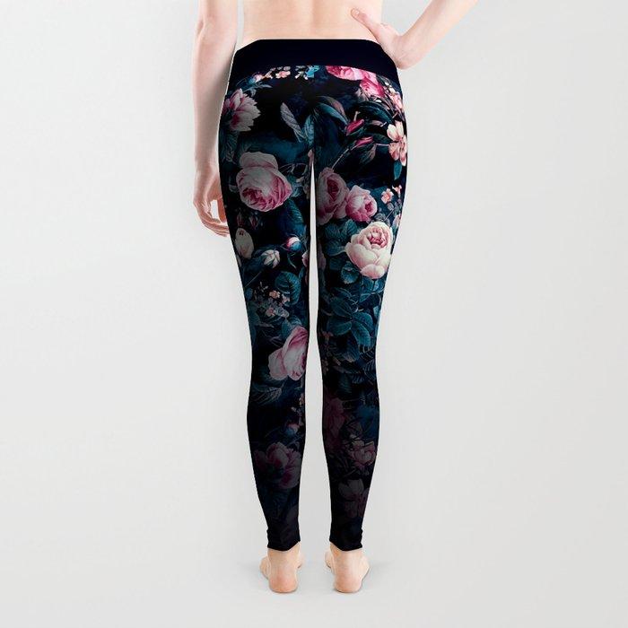 Roses Blue Leggings