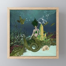 Wonderful mermaid Framed Mini Art Print