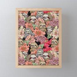 Because Sloths Framed Mini Art Print