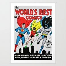 Comic (WB) 01 Art Print