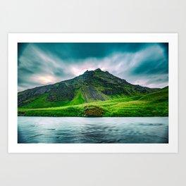 Iceland Mountain Art Print
