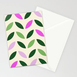 Leaves & Petals - Pink & Green Stationery Cards