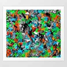 Painter Camo 1 Art Print