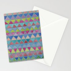 Colored Watercolor Triangles Stationery Cards