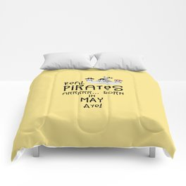 Real Pirates are born in MAY T-Shirt Dxdsj Comforters