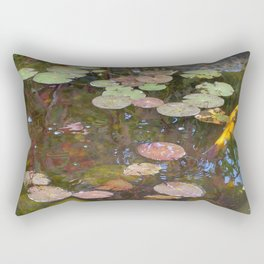 Koi Pond and Lilypads Rectangular Pillow
