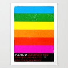 Polaroid 108 Art Print
