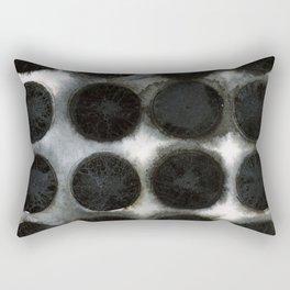 WATERCOLOUR DISCS: Black Spinel Rectangular Pillow