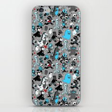 Monster March (Gray) iPhone & iPod Skin