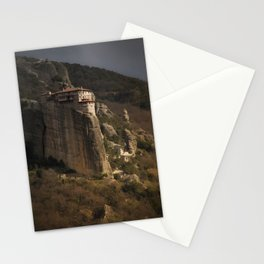 monastery in Meteora Stationery Cards