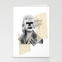 kate moss Stationery Cards featuring Kate Moss by FAMOUS WHEN DEAD