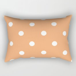 Tangerine Dotty Rectangular Pillow