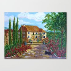 Tuscany with Cats Canvas Print