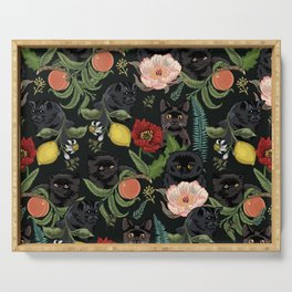 Botanical and Black Cats Serving Tray