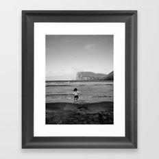 Dancing with the ocean Framed Art Print
