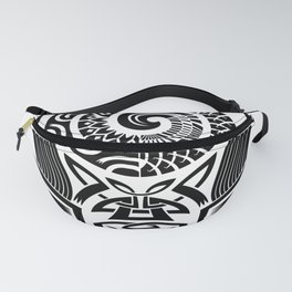 Polynesian maori tattoo artwork Fanny Pack
