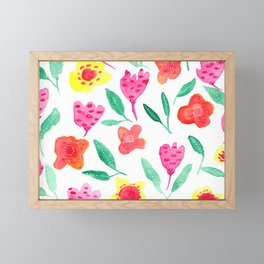 Summer blossoms Framed Mini Art Print