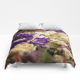 Bouquet of flowers, violets Comforters