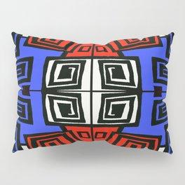 Blue & Red Pillow Sham