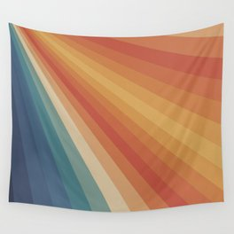 Retro 70s Sunrays Wall Tapestry