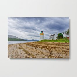 Corran Lighthouse Loch Linnhe Metal Print