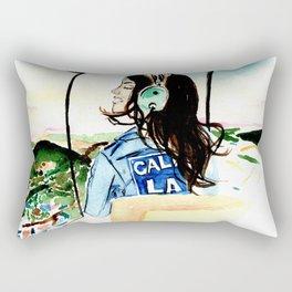 Pilot girl Rectangular Pillow