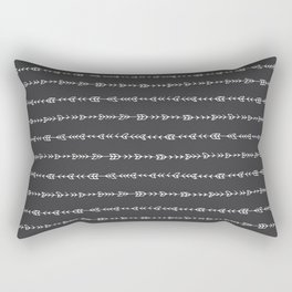 Tribal Arrows - Hand Drawn Illustration, Abstract Pattern Rectangular Pillow