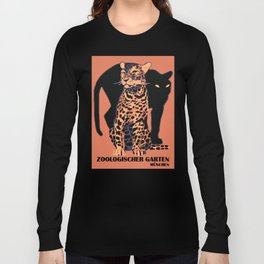 Retro vintage Munich Zoo big cats Langarmshirt