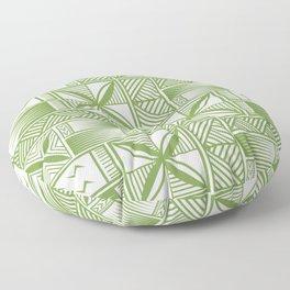 UrbanNesian Green Tatau Print Floor Pillow