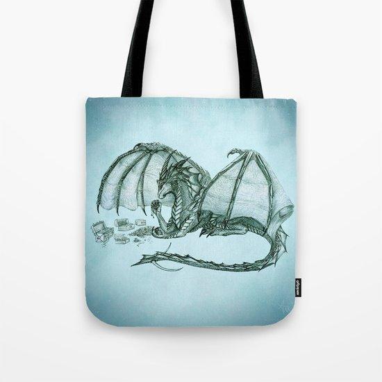 Material Girl ~ Sea Mist ~ Dragon Tote Bag