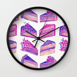 Cake Slices – Unicorn Palette Wall Clock