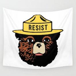 78947e741f86b SMOKEY THE BEAR SAYS RESIST Wall Tapestry