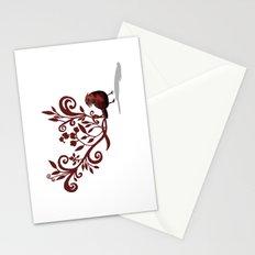 Swirly Bird Stationery Cards