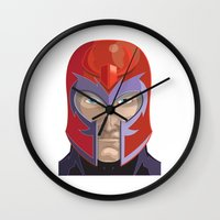 magneto Wall Clocks featuring Magneto by Jconner