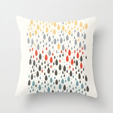 Rainbow Drops Throw Pillow