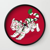 Candy Tiger Wall Clock