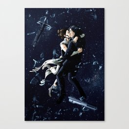 Zero Gravity Space Kiss Canvas Print