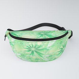 Pastel Green Wildflowers Fanny Pack
