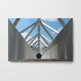 The #bridge in Plessiville Metal Print