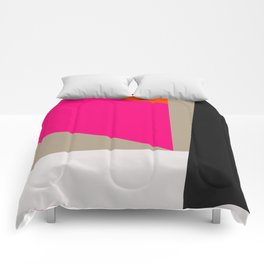Modern Vintage Minimal Inspired Geometric Colorfield Art Print Comforters