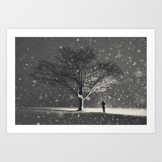 Lighting the Snowflakes Art Print
