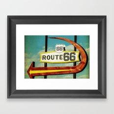 Route 66 Motel Graphic Sign Framed Art Print