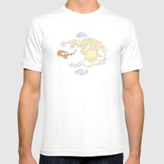 The Lay of the Land White MEDIUM Mens Fitted Tee
