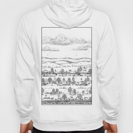 GREYHOUND TOILE LANDSCAPE  drawing Hoody