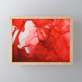 Scarlet blast Framed Mini Art Print