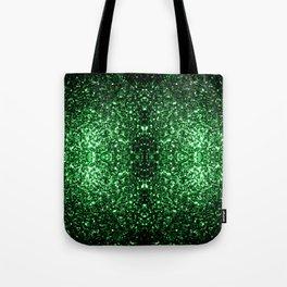 Glamour Dark Green glitter sparkles Tote Bag