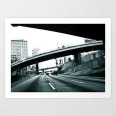 Los Angeles Hue Art Print
