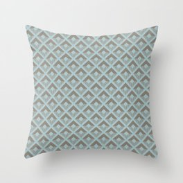 Two-toned square pattern Throw Pillow
