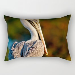 Coastal Brown Pelican Rectangular Pillow