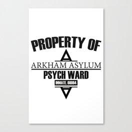 Arkham Asylum // Psych Ward Inmate Design Canvas Print